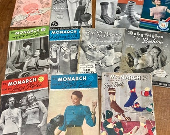Lot of 12 Vintage knitting booklets - 1930s and 1940s -