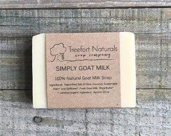 Goat's Milk Soap Unscented - Handmade Cold Process Soap, local goat milk, All Natural, unscented soap