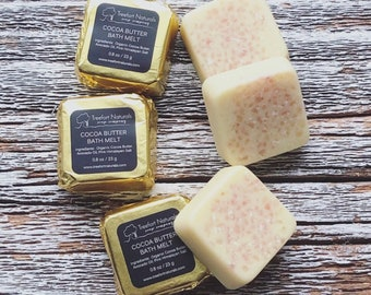 Cocoa Butter Bath Melts - natural bath oil, tub truffle
