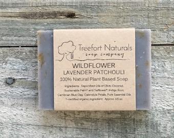 Wildflower Soap - Handmade Cold Process, All Natural, vegan, essential oils, Calendula, Lavender, Patchouli