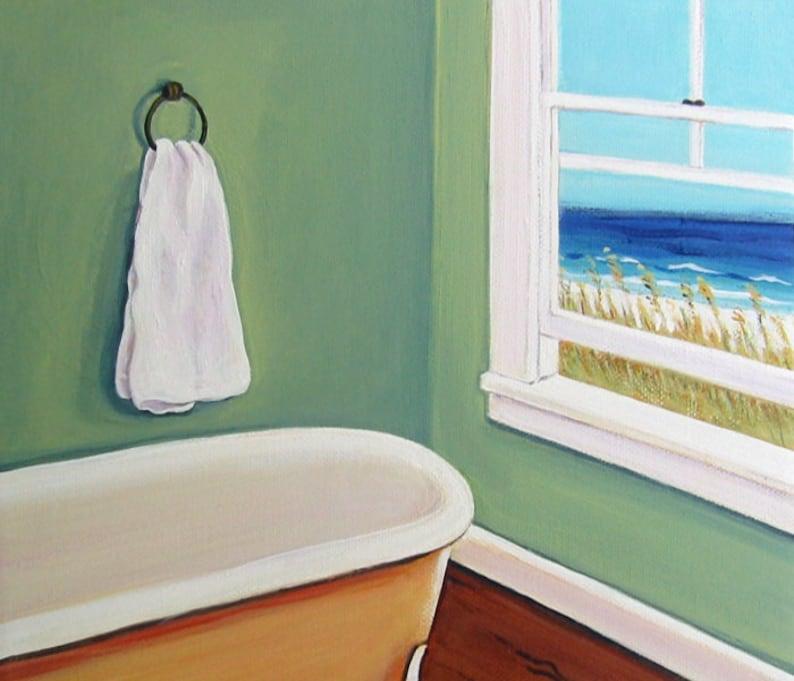 Art baignoire sur pattes salle de bain Art Vintage salle de | Etsy
