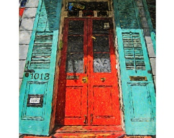 New Orleans Art French Quarter Art New Orleans House Art Colorful Houses  sc 1 st  Etsy & Funky doors | Etsy