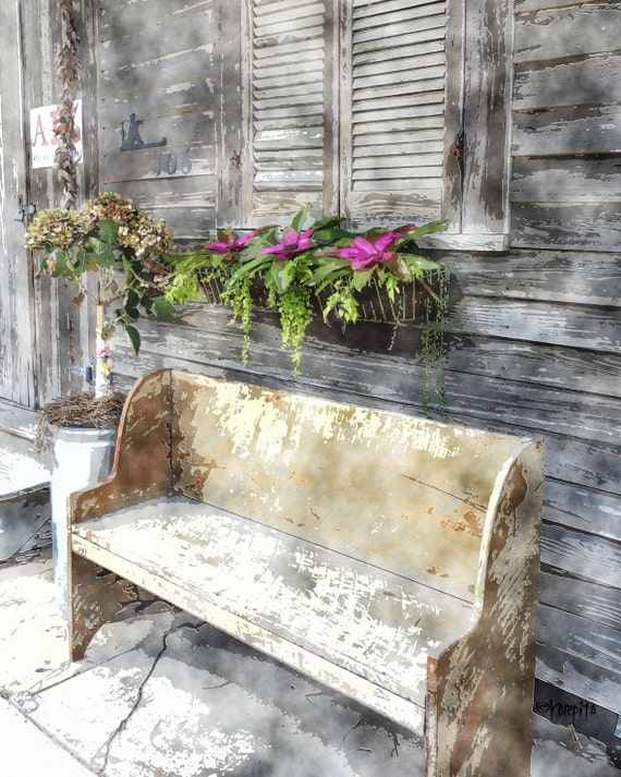 Awe Inspiring Bay St Louis Ms Wooden Bench Art Smith And Lens Window Box Print Old House Art Flowers Bay St Louis Art Stop And Rest Korpita Pabps2019 Chair Design Images Pabps2019Com
