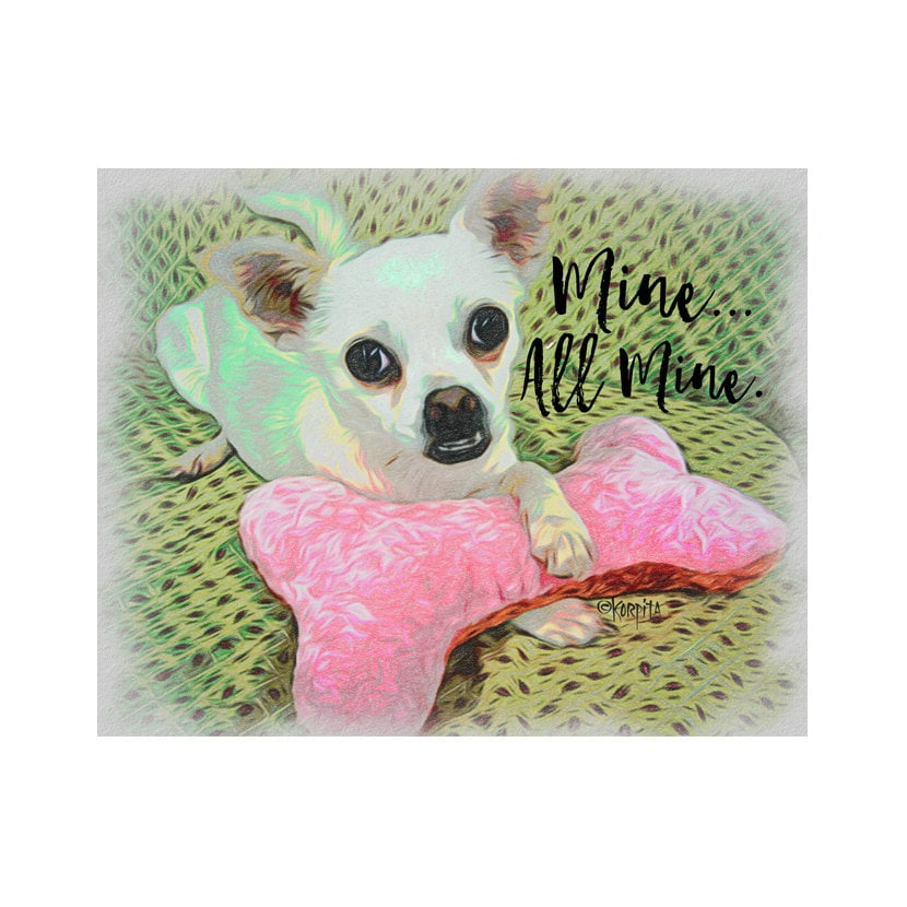 AmoureuxCadeau ChihuahuaAvec Citation Jouet De Chihuahua Blanc DisantArt ChiwawaBad H9D2IE