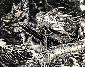 Behold the Arrival of the Leviathan Art Print