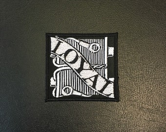Loyal to the Coil Embroidered Patch, Black and White