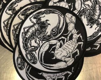 Scorpion Yin Yang Woven Patch