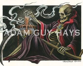 Death Waits, Grim Reaper Art Print