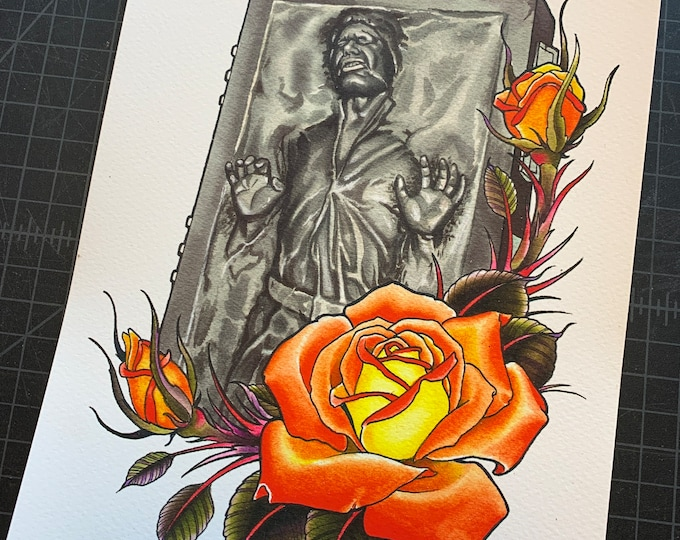 Featured listing image: Han Solo in Carbonite Art Print