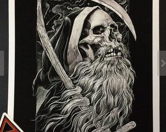 Old Man Reaper Art Print
