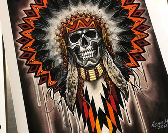 Native Chief Art Print