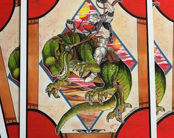 Leaping Lizards Sandtrooper Art Print