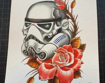Skull Stormtrooper Art Print