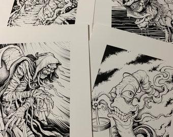 Inktober Prints