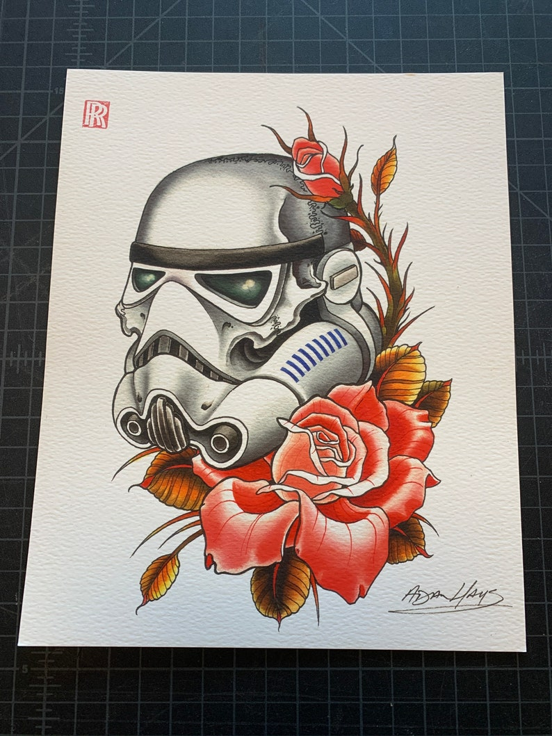 Skull Stormtrooper Art Print image 0
