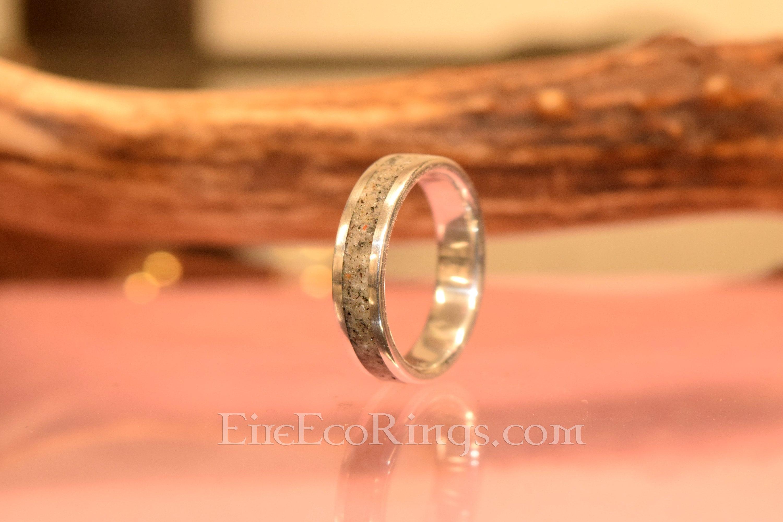 Deer Antler Ring Ladies Palladium Wedding Band Engagement Rings