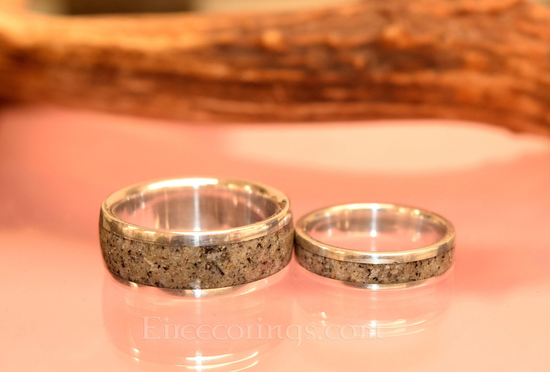 Deer Antler Rings Palladium Wedding Band Engagement Rings Handmade