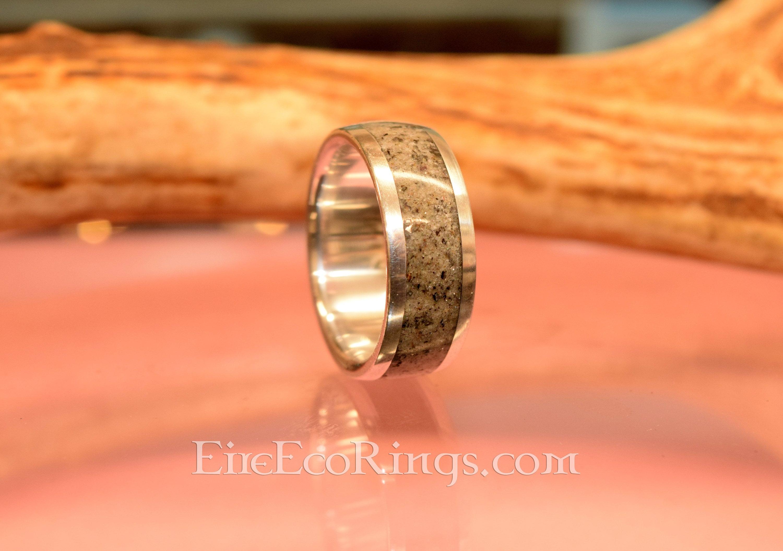 Deer Antler Ring Mans Palladium Wedding Band Engagement Rings