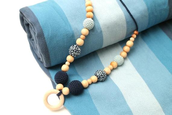 Friendly Juniper Nursing//Brestfeeding Necklace for mom in bleck Eco grey