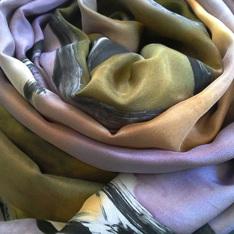 Hand Painted Silk Sarong or Wrap for womenOne-of-a-kind image 0