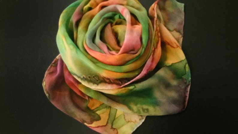 One of a kind hand painted silk shawls and wraps by Michele image 0