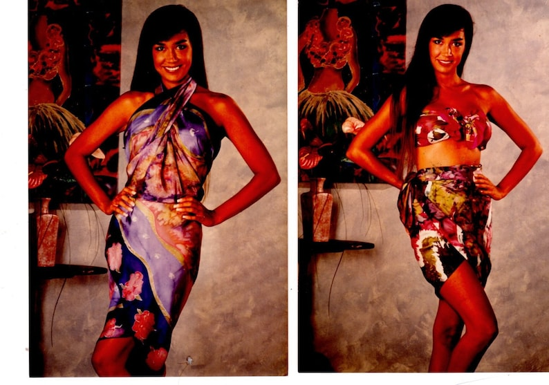 Hand Painted Silk Sarongs Custom Made Made to Order One of image 0