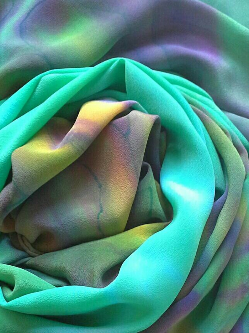 Hand Painted Silk Shawlone-of-a-kind scarves and wraps for image 0