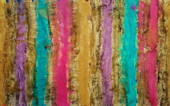 Handpainted Abstract Art on Silk,One of a kind art, Modern Art,Contemporary Art,Abstracts,Stripes,Silk Paintings,Silk Art,Michele Morgan Art