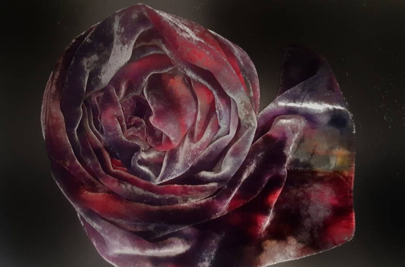 Hand painted silk scarves and wraps for womenluxury gifts for image 0