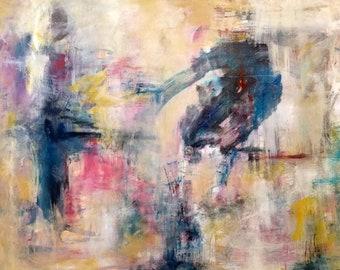 Transformation 1, Abstract art on ncanvas, acrylic,modern art, michelemorganart, contemporary, impressionistic, wild,
