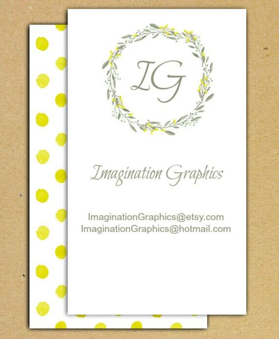 Tlchargement Numrique Graphique Bricolage Carte De Visite 2 Blancs Face Jaune Et