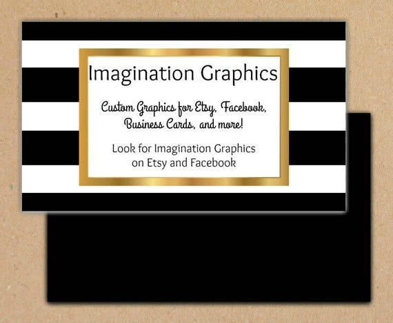 Graphique Carte De Visite Noir Et Blanc Or Personnalis Avec Vos Informations Imprimer Vous Mme