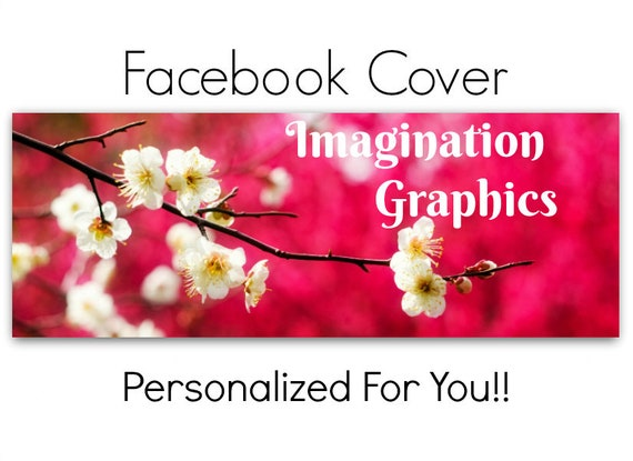 Facebook Cover Photo Pre Made White Spring Flowers Facebook Etsy