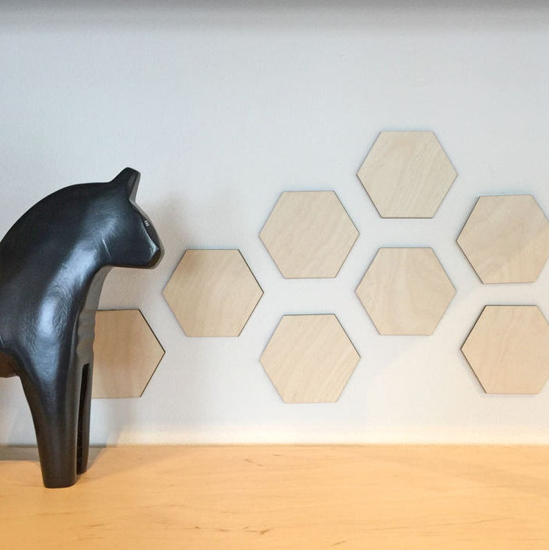 Hexagons Wood Wall Art Home Decor Decorative Accessories