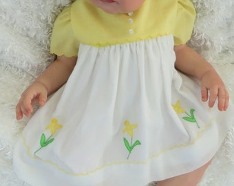 VINTAGE Nannette Baby Dress for Reborn Silicone Art doll 12 mo size  CLOTHING ONLY!