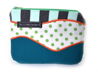 SALE 40% OFF Upcycled Zippered Pouch