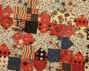 Fourth Of July/Red White Blue/Americana/Wall Hanging/Table Topper