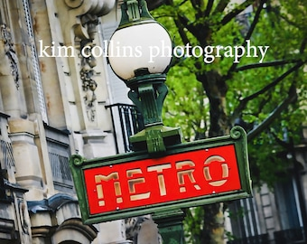 Paris Metro Slanted-Paris France,multiple sizes available-landscape-Metro-Parisian-photo-Subway Signs