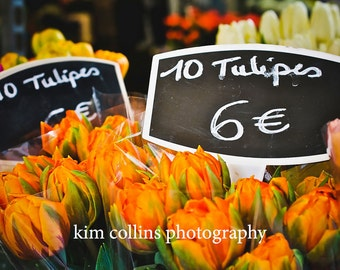 Parisian Tulips,Fine Art Photography,Paris,France,multiple sizes available-parisian,flowers, floral, orange,nature,tulip