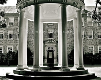 Old Well UNC Black & White-Chapel Hill, North Carolina Multiple Sizes Available-Fine Art Photography-Landmark,Tarheels, UNC