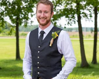 Mens   Linen   Vest   Custom Made  