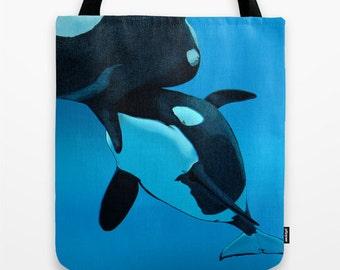 4536a8f4e356 Orca tote bag | Etsy