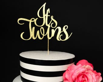 It's twins cake topper- baby shower cake topper- twins cake topper
