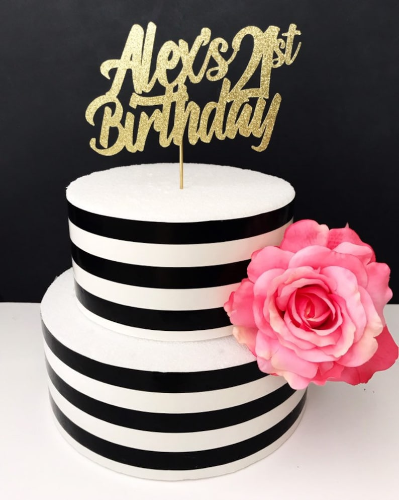 Happy Birthday Cake Topper Any Name Number Custom