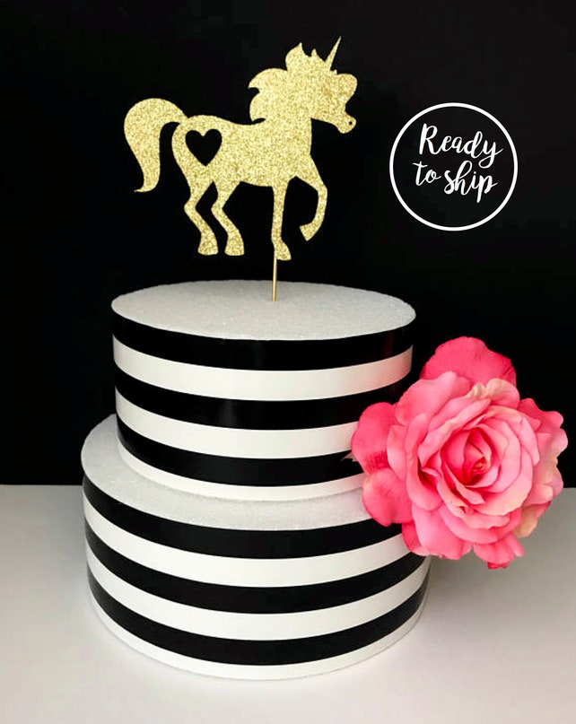Unicorn Cake Topper Gold Cake Topper Unicorn Centerpiece Baby