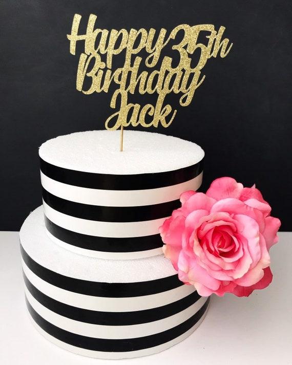 Stupendous 35Th Birthday Cake Topper Any Age Etsy Funny Birthday Cards Online Hetedamsfinfo