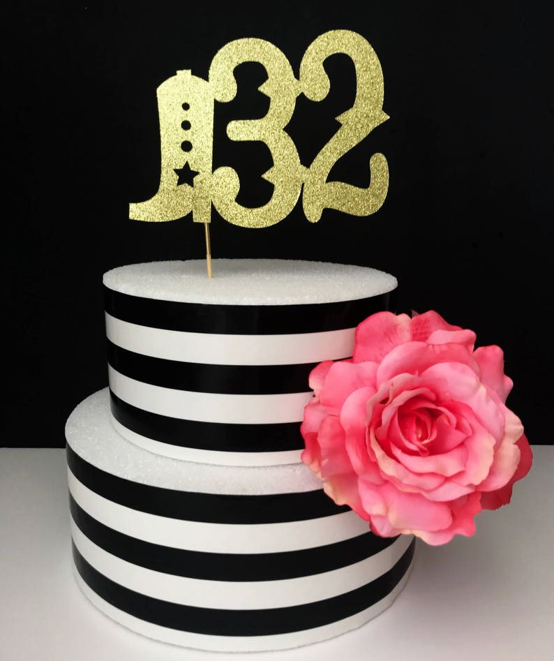 Custom Western Birthday Cake Topper Bowboy