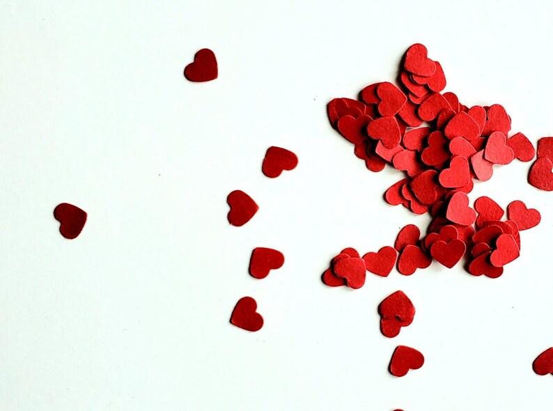 Heart Confetti Mini Confetti Die Cuts  Valentines Day Red image 0