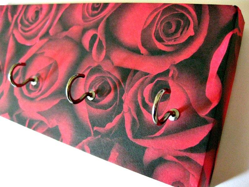 Rose Key Rack Rose Valentines Day Jewelry Holder Floral image 0