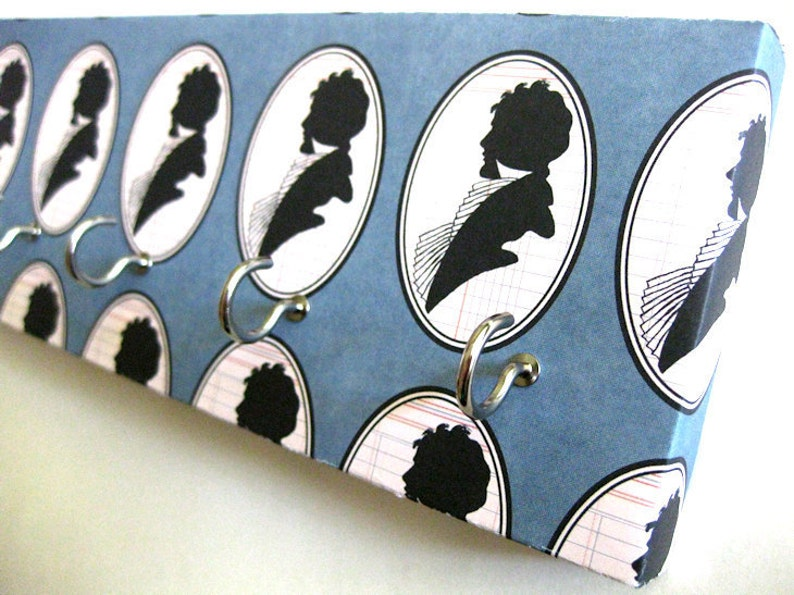 Jewelry Holder and Key Rack Blue and Black silhouette image 0